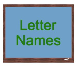 letter names icon