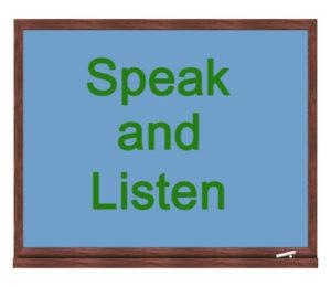 speak and listen icon
