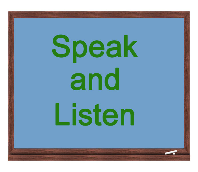 speak and listen icon