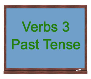 verbs 3 past tense icon