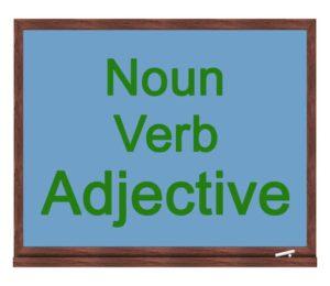 noun verb adjective icon