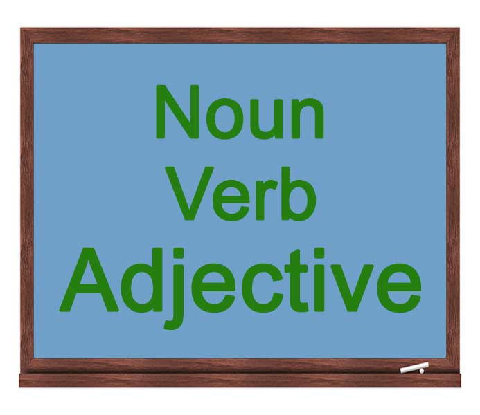 noun verb adjective icon